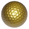 Gold Blank Golf Ball